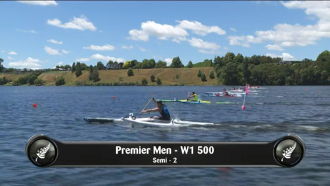 Video for 2019 Waka Ama Sprints - Premier Men - W1 500 Semi 2/2