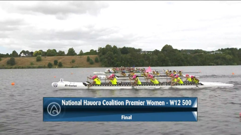Video for 2021 Waka Ama Championships - Nat. Hauora Coalition Premier Women - W12 500 Final