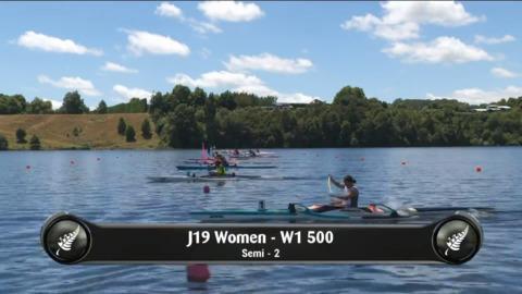 Video for 2019 Waka Ama Sprints - J19 Women - W1 500 Semi 2/2
