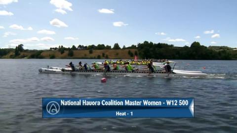 Video for 2020 Waka Ama Sprints - National Hauora Coalition Master Women - W12 500 Heat 1/2
