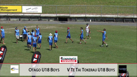 Video for 2019 Bunnings Junior National Touch Champs, U18 Men, Otago vs TTT