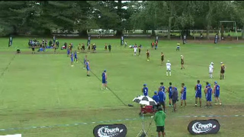 Video for Grassroots Trust 2018 Junior National Touch Championship, U18 Boys, Auckland ki Wellington