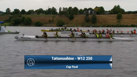 Video for 2020 Waka Ama Sprints - Taitamaahine - W12 250 - Cup Final