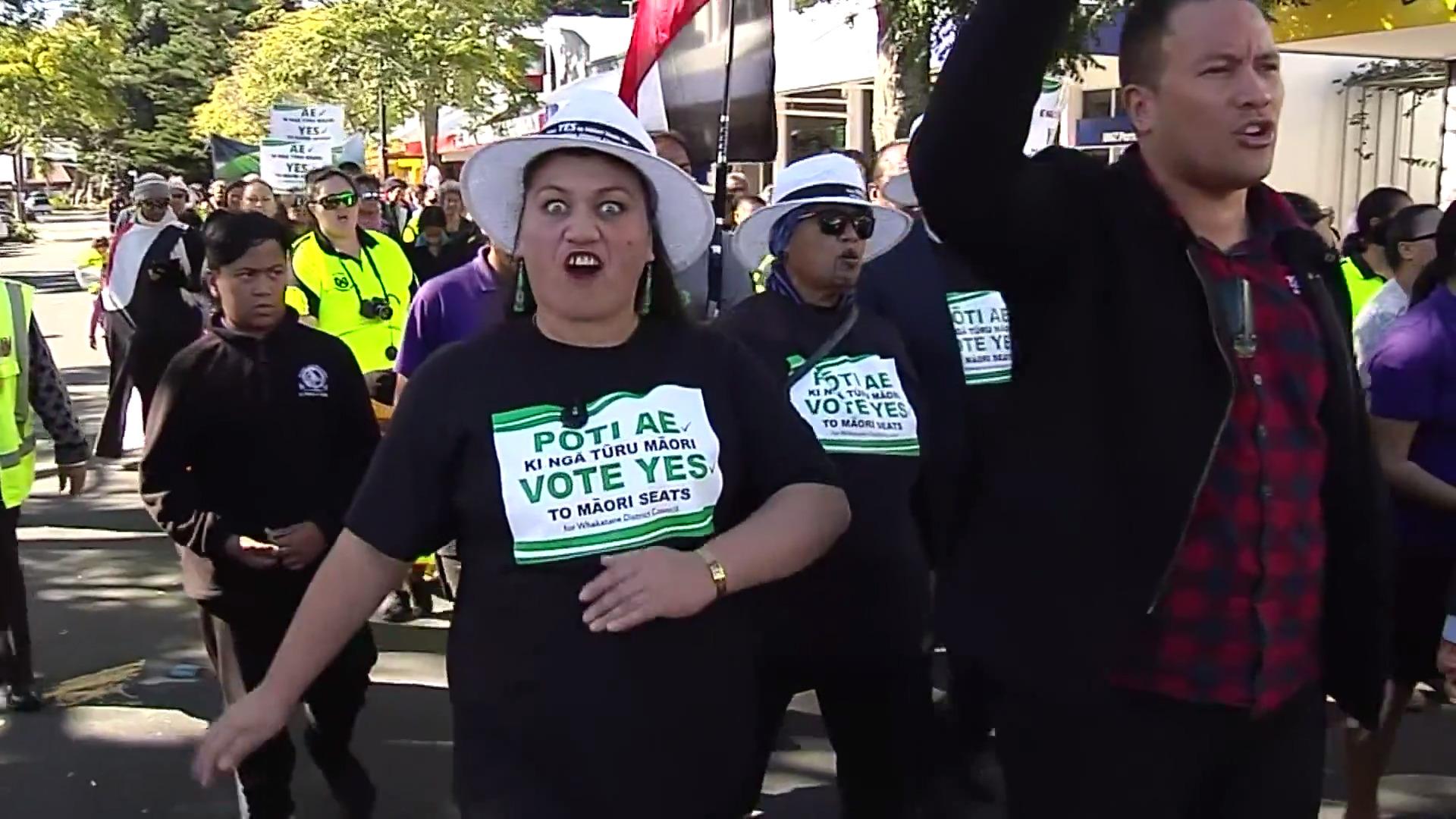 Video for He tautoko i te hikoi mo te rohe pōti Māori