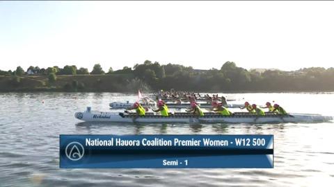 Video for 2021 Waka Ama Championships - Nat.l Hauora Coalition Premier Women - W12 500 Semi 1/2