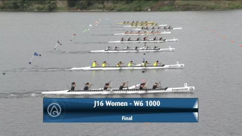 Video for 2021 Waka Ama Championships - J16 Women - W6 1000 Final