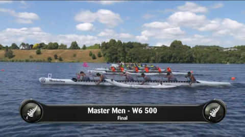 Video for 2019 Waka Ama Sprints - Master Men - W6 500 Final