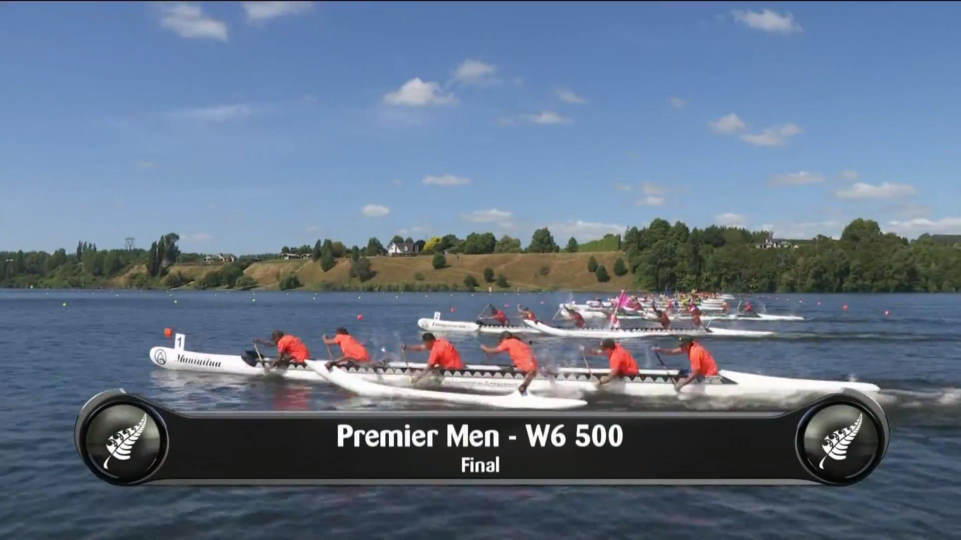 Video for 2019 Waka Ama Sprints - Premier Men - W6 500 Final