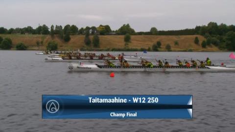 Video for 2020 Waka Ama Sprints - Taitamaahine - W12 250 - Champ Final