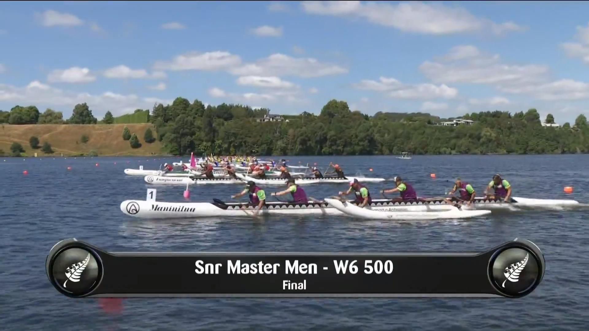 Video for 2019 Waka Ama Sprints - Snr Master Men - W6 500 Final