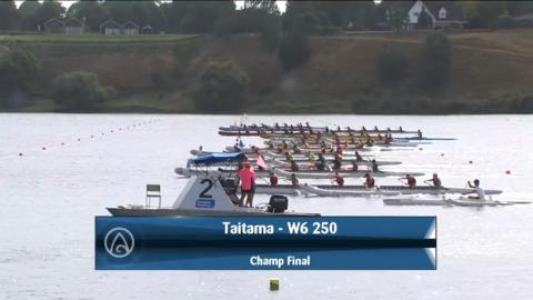 Video for 2021 Waka Ama Championships - Taitama - W6 250 Champ Final
