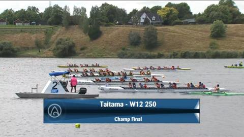 Video for 2021 Waka Ama Championships - Taitama - W12 250 Champ Final
