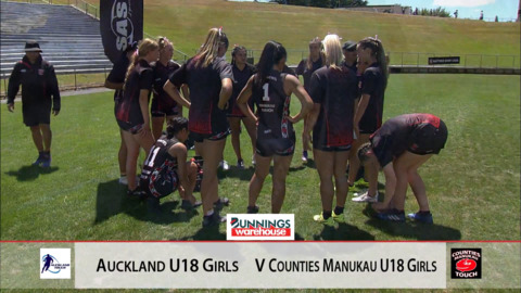 Video for 2019 Bunnings Junior Touch Champs, U18 Girls Auckland vs Counties.