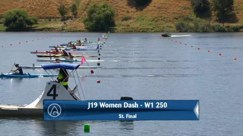 Video for 2020 Waka Ama Sprints - J19 Women Dash - W1 250 St. Final