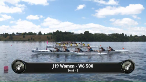 Video for 2019 Waka Ama Sprints - J19 Women - W6 500 Semi 2/2
