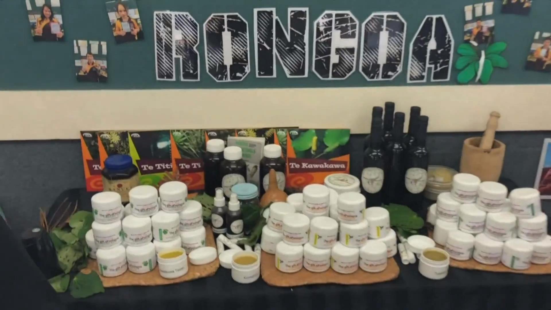 Video for Omanaia School develops their own rongoā Māori range