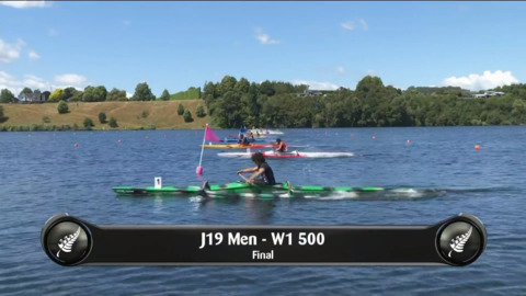 Video for 2019 Waka Ama Sprints - J19 Men - W1 500 Final