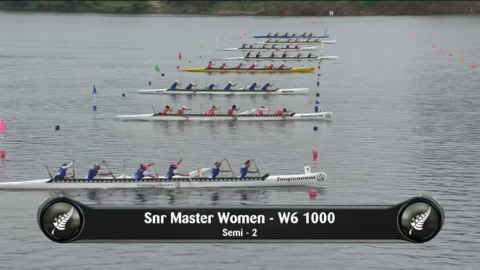 Video for 2019 Waka Ama Sprints - Snr Master Women - W6 1000 Semi 2/2