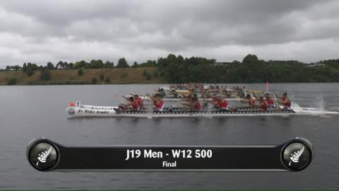 Video for 2019 Waka Ama Sprints - J19 Men - W12 500 Final