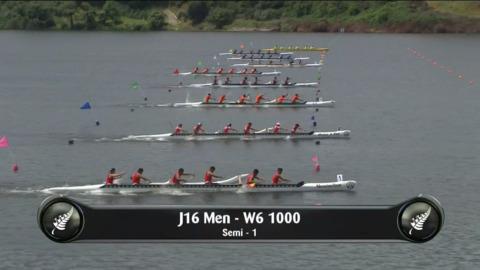 Video for 2019 Waka Ama Sprints - J16 Men - W6 1000 Semi 1/2