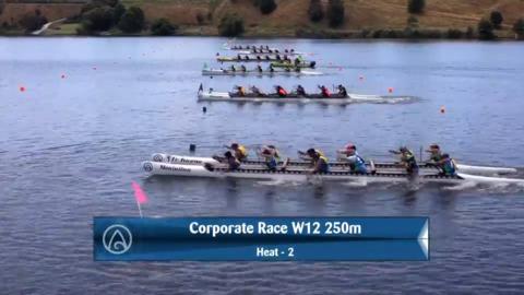 Video for 2020 Waka Ama Sprints - Corporate Race - W12 250 Semi 2/2