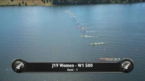 Video for 2019 Waka Ama Sprints - J19 Women - W1 500 Semi 1/2
