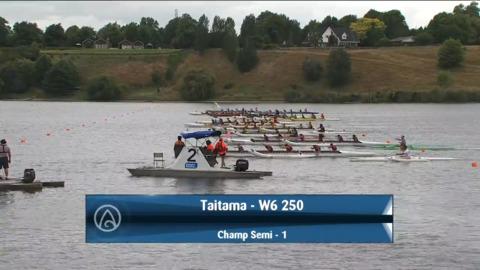 Video for 2021 Waka Ama Championships - Taitama - W6 250 Champ Semi 1/2