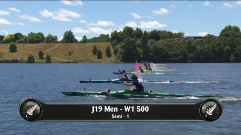 Video for 2019 Waka Ama Sprints - J19 Men - W1 500 Semi 1/2
