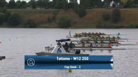 Video for 2021 Waka Ama Championships - Taitama - W12 250 Cup Semi 2/2
