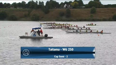 Video for 2021 Waka Ama Championships - Taitama - W6 250 Cup Semi 2/2