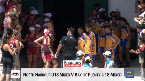 Video for 2019 Bunnings Junior Touch Champs, U18 Mixed, North Harbour ki Bay of Plenty