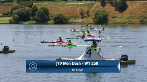 Video for 2020 Waka Ama Sprints - J19 Men Dash - W1 250 St. Final