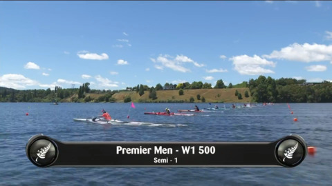 Video for 2019 Waka Ama Sprints - Premier Men - W1 500 Semi 1/2 1