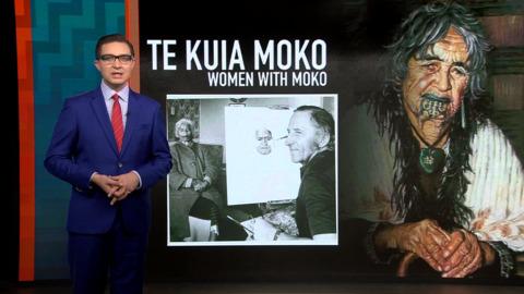 Video for Te Kuia Moko on exhibit in Auckland