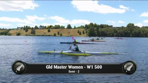 Video for 2019 Waka Ama Sprints - Gld Master Women - W1 500 Semi 2/2