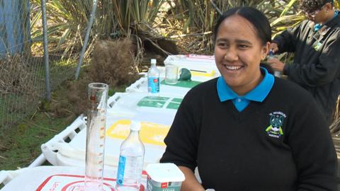 Video for No more science on rubbish bins for Manurewa kura
