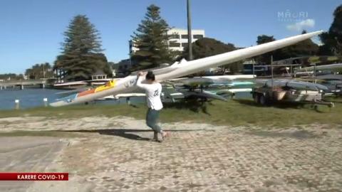 Video for Waka ama paddlers return to water - 7.30am Newsbreak