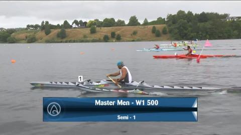 Video for 2021 Waka Ama Championships - Master Men - W1 500 Semi 1/2