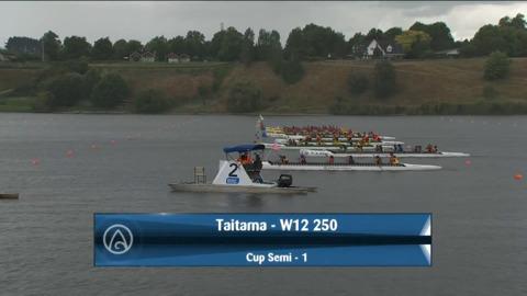 Video for 2021 Waka Ama Championships - Taitama - W12 250 Cup Semi 1/2