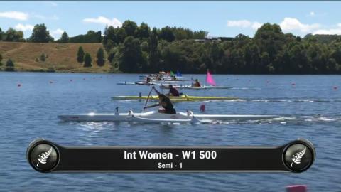 Video for 2019 Waka Ama Sprints - Int Women - W1 500 Semi 1/2