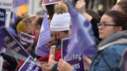 Video for DHB midwives to strike