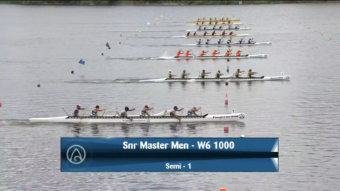 Video for 2021 Waka Ama Championships - Snr Master Men - W6 1000 Semi 2/2
