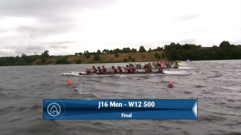 Video for 2020 Waka Ama Sprints - J16 Men - W12 500 Final