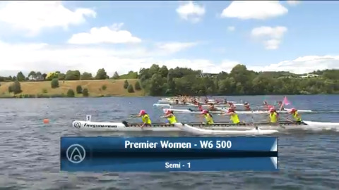 Video for 2021 Waka Ama Championships - Premier Women - W6 500 Semi 1/2
