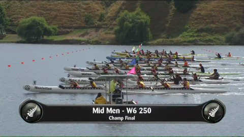 Video for 2019 Waka Ama Sprints - Mid Men - W6 250 Champ Final