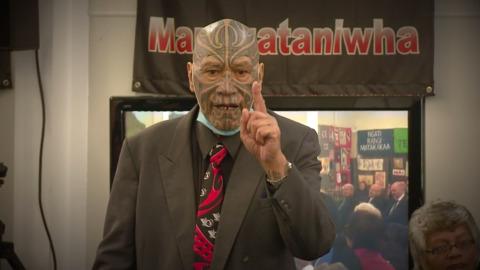 Video for Tributes flow for Ngāpuhi leader Kingi Taurua