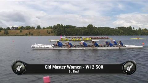 Video for 2019 Waka Ama Sprints - Gld Master Women - W12 500 St.Final