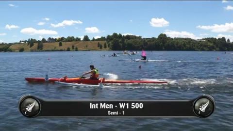 Video for 2019 Waka Ama Sprints - Int Men - W1 500 Semi 1/2