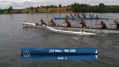 Video for 2020 Waka Ama Sprints - J16 Men - W6 500 Semi 2 / 2