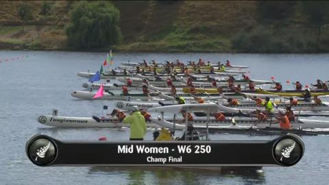 Video for 2019 Waka Ama Sprints - Mid Women - W6 250 Champ Final